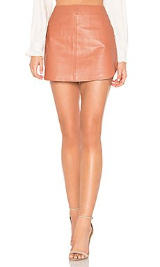 Simon Leather Skirt                                             Karina Grimaldi