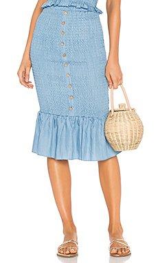Last Night Shirred Skirt                                             Suboo
