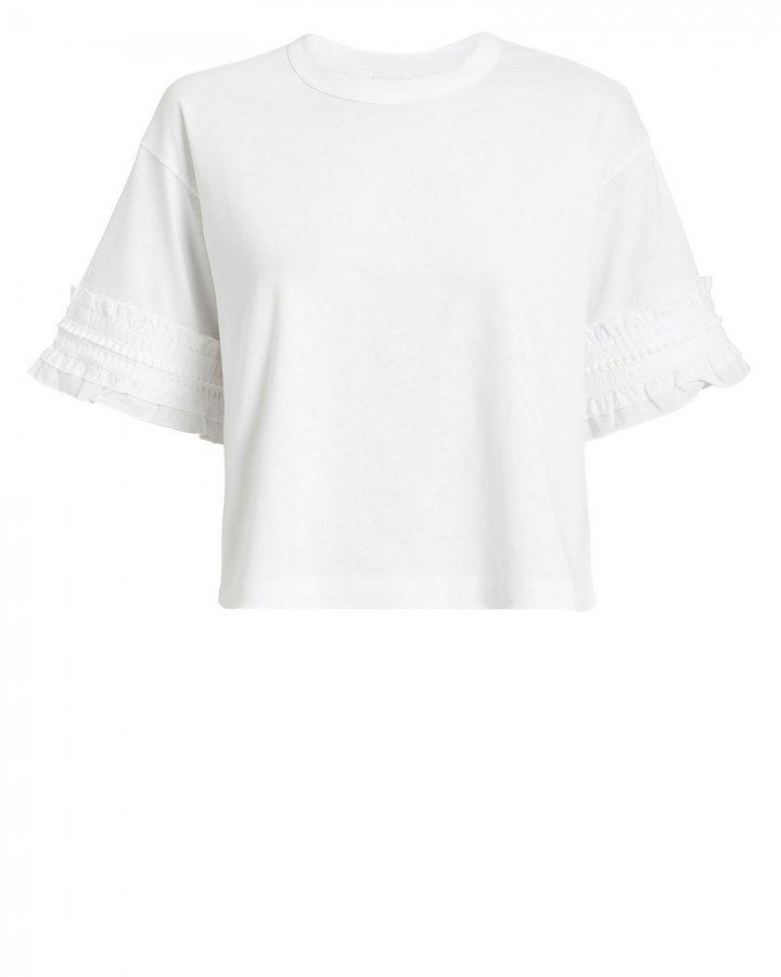 White Ruffle T-Shirt