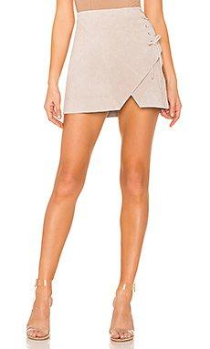 Suede A Line Skirt                                             BLANKNYC