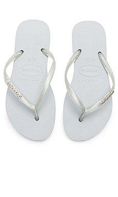 Slim Logo Metallic Sandal                                             Havaianas