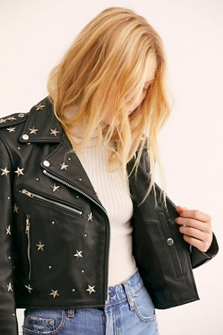 Star Studded Mercury Cropped Jacket