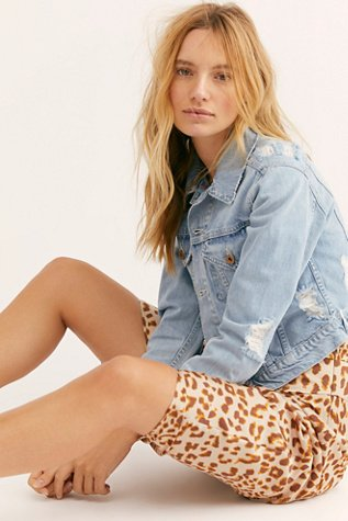 Zella Cropped Denim Jacket