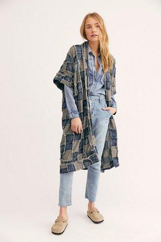 Patch Denim Dashi Kimono