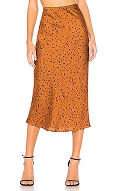 Animal Print Midi Skirt                                             J.O.A.