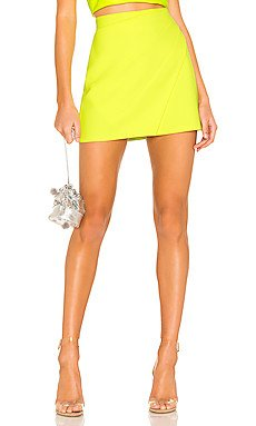 Shaylee Wrap Mini Skirt                                             Alice + Olivia
