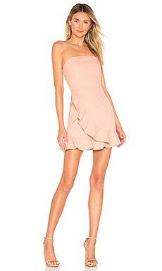 Rosie Strapless Ruffle Dress                                             superdown