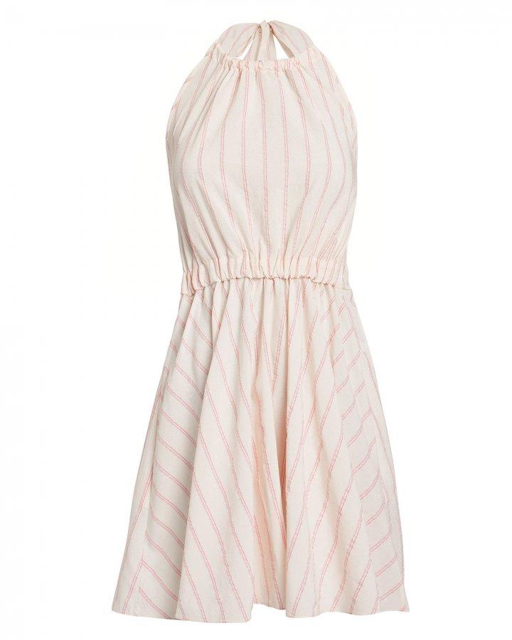 Aweke Halter Striped Mini Dress