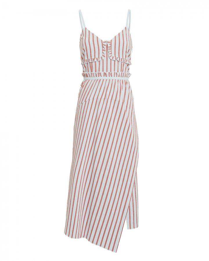 Striped Ruffle Cami Dress
