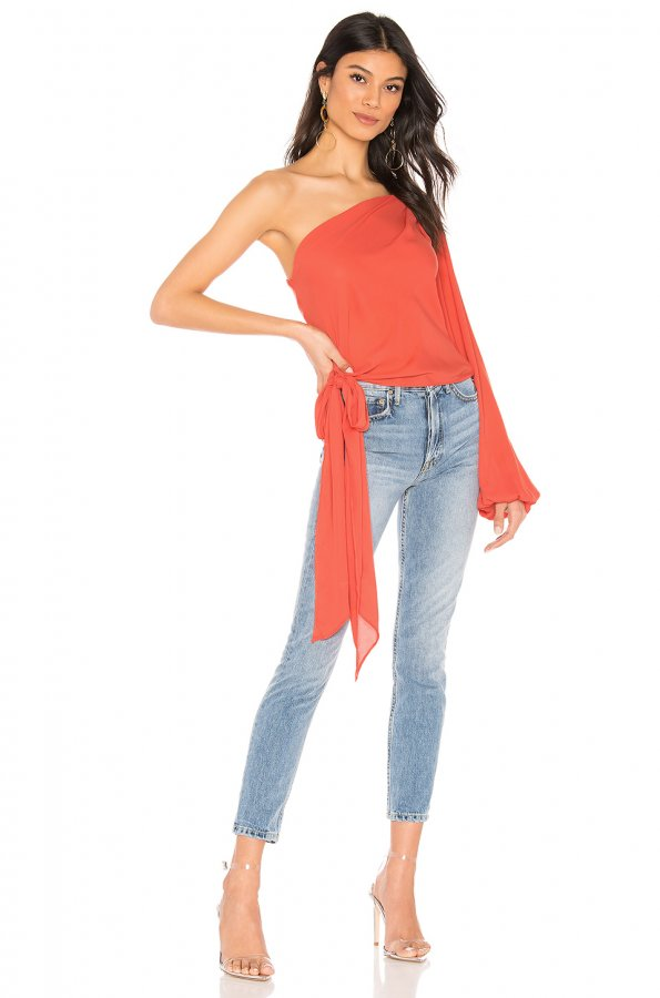 One Shoulder Tie Top