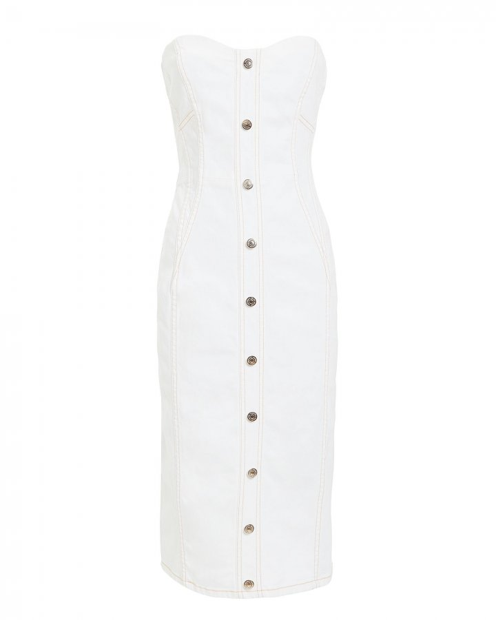 Liza White Denim Dress