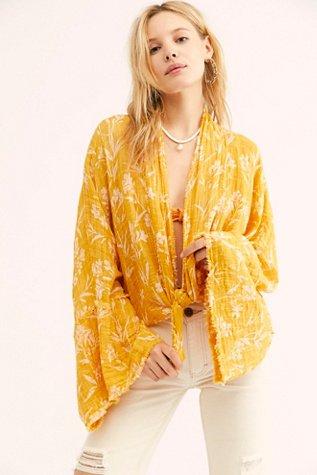 FP One Azalea Printed Kimono