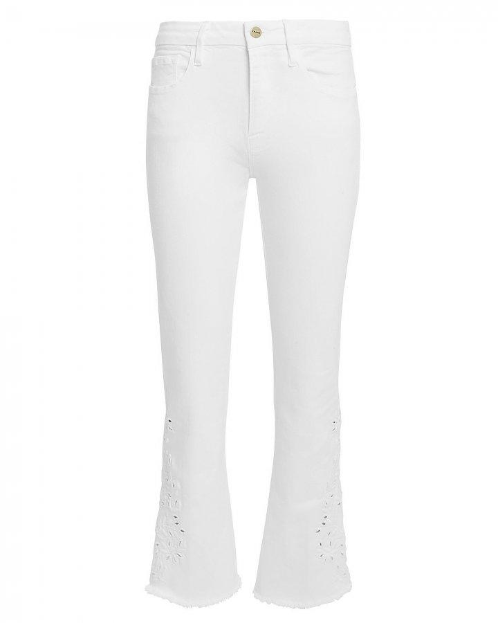 Le Crop Mini Boot White Jeans