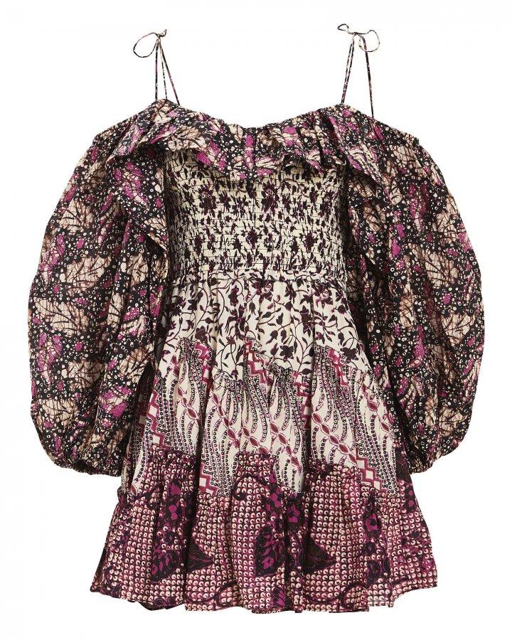 Jira Patchwork Mini Dress