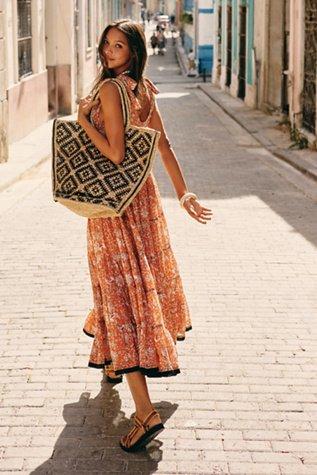 Kika\'s Printed Midi Dress