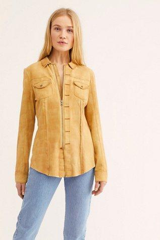 Amber Suede Shirt Jacket