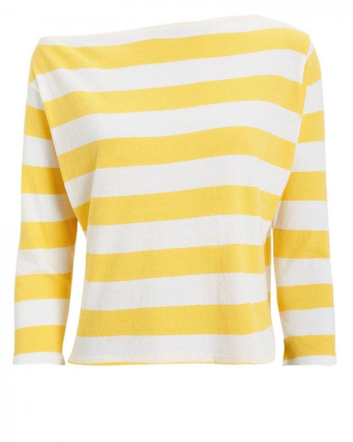 Striped Bateau Jersey Top