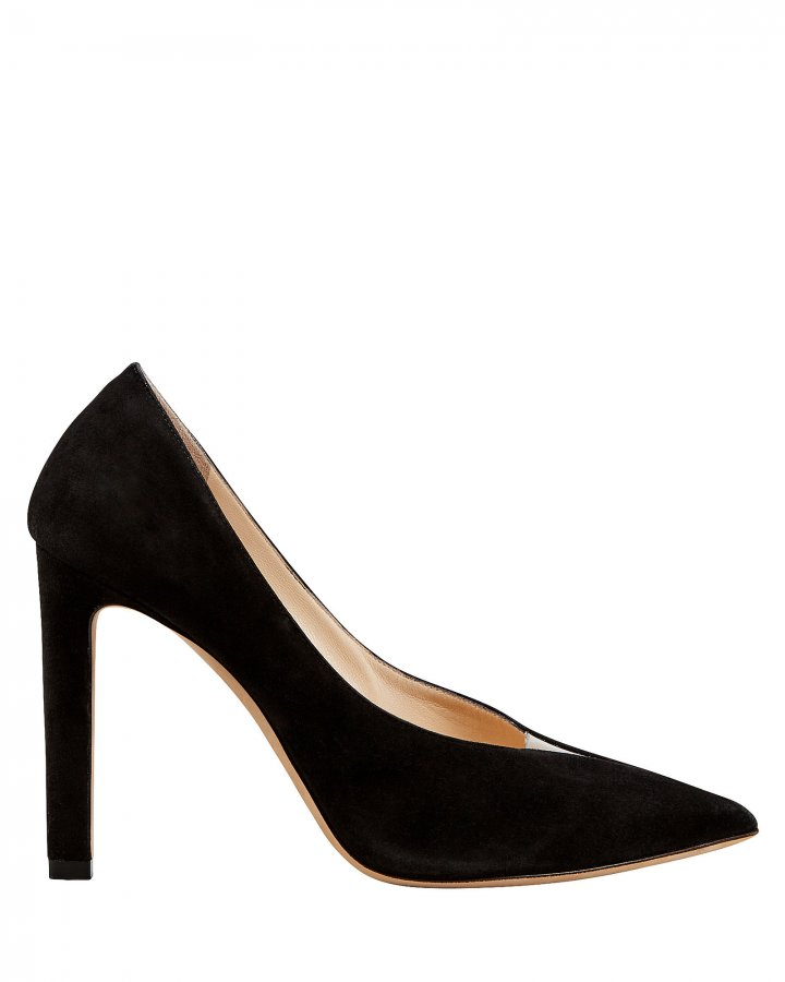 Baker Black Suede Pumps