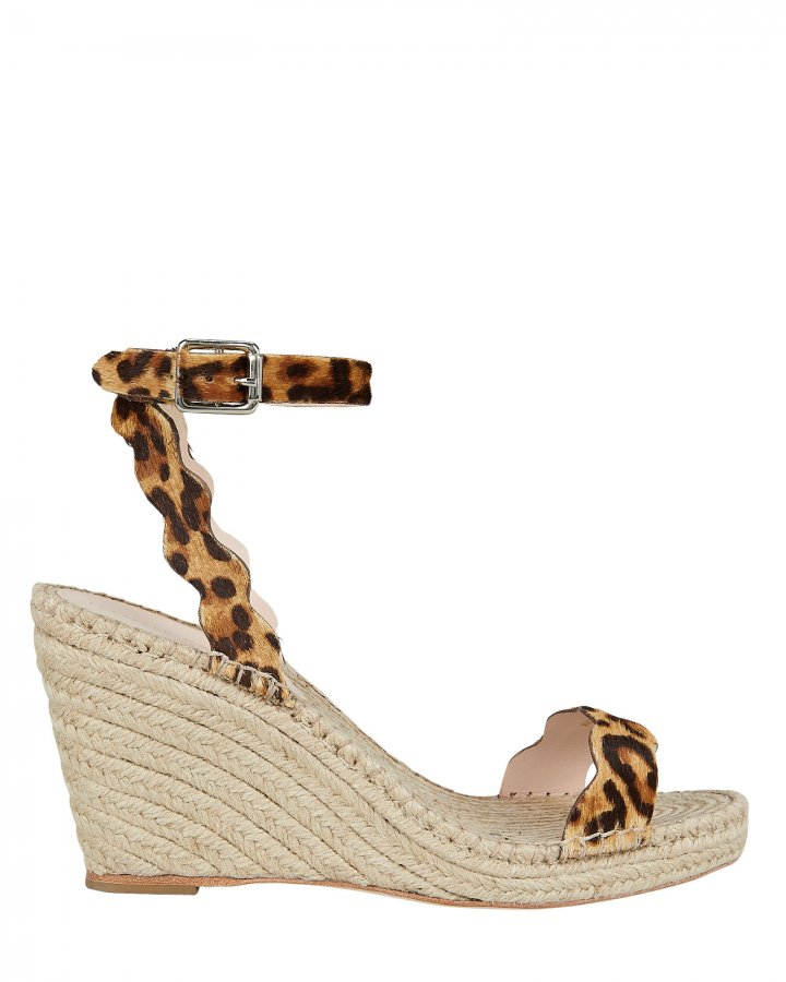 Parker Leopard Print Wedge Sandals