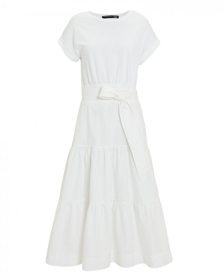 Trail Belted Cotton Midi Dress