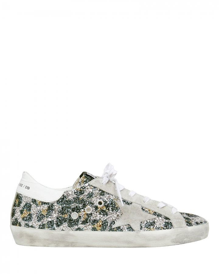 Superstar Leopard Glitter Low Top Sneakers