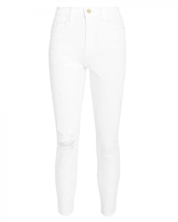 Ali High-Rise Skinny White Jeans