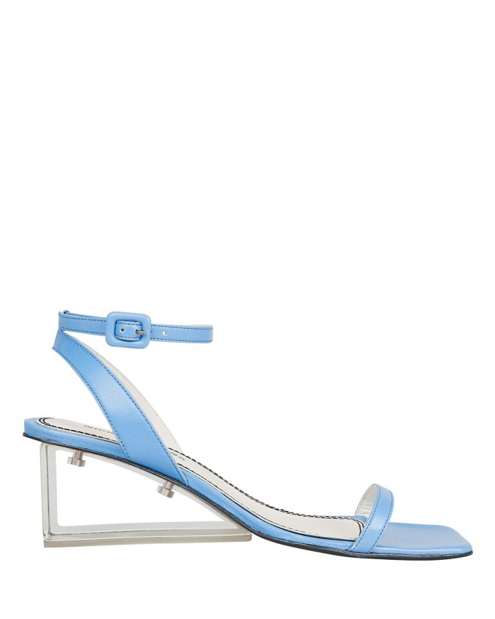 Alyssa Clear Heel Blue Sandals