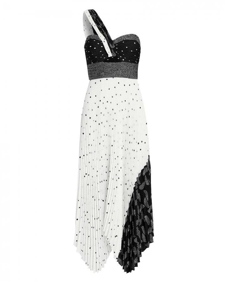 Aurora Patchwork One Shoulder Dress
