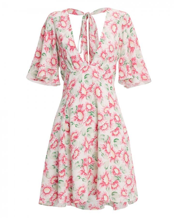 Petal Silk Mini Dress