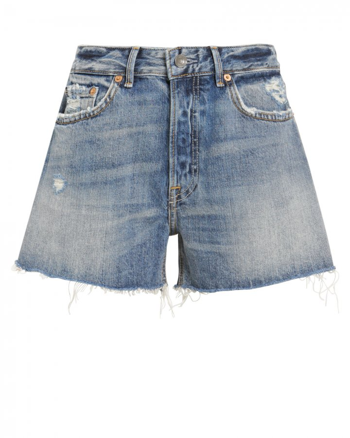 Helena Distressed Denim Shorts