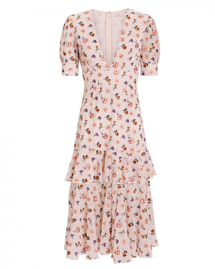 Follow You Floral Midi Dress