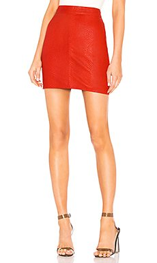 Mishka Leather Mini Skirt                     X by NBD