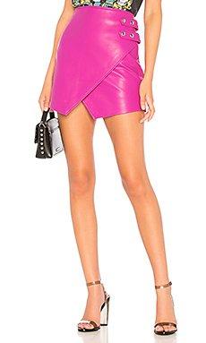 Overlap Vegan Leather Skirt                     BLANKNYC