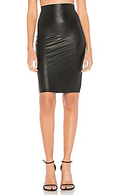 Perfect Pencil Faux Leather Skirt                     Commando