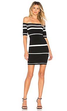 Kayden Stripe Knit Dress                     superdown