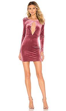 Noelle Cross Back Velvet Mini Dress                     by the way.