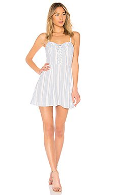 Libby Lace Up Dress                     superdown