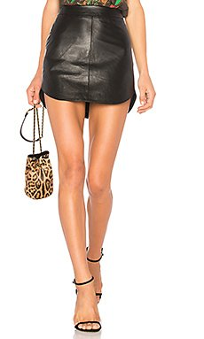 Conrad Leather Skirt                     BB Dakota