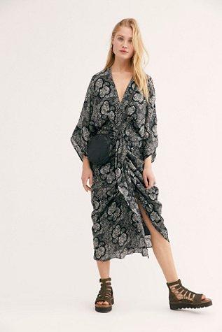 Retrograde Kimono Dress