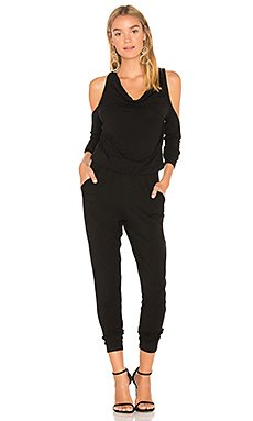 BLACK Cold Shoulder Jumpsuit                     Bobi