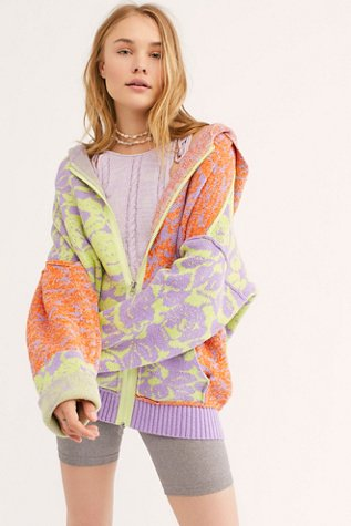 In Bloom Patterned Sweater Hoodie