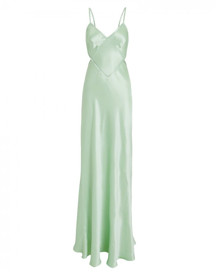 Open Back Satin Gown