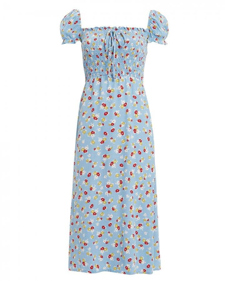 Jasmine Floral Print Midi Dress