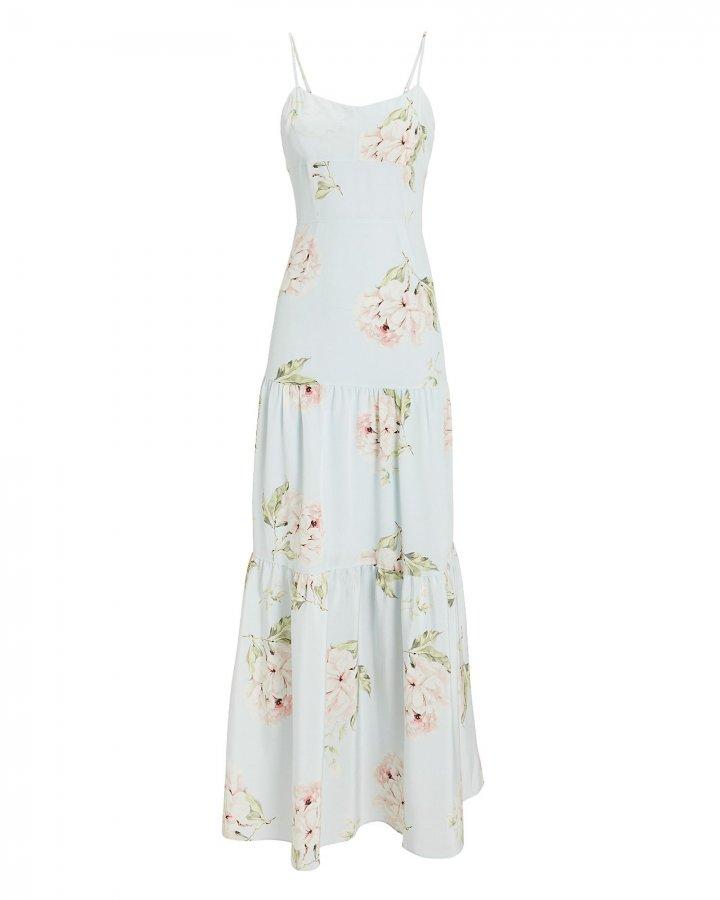 Genevieve Silk Maxi Dress