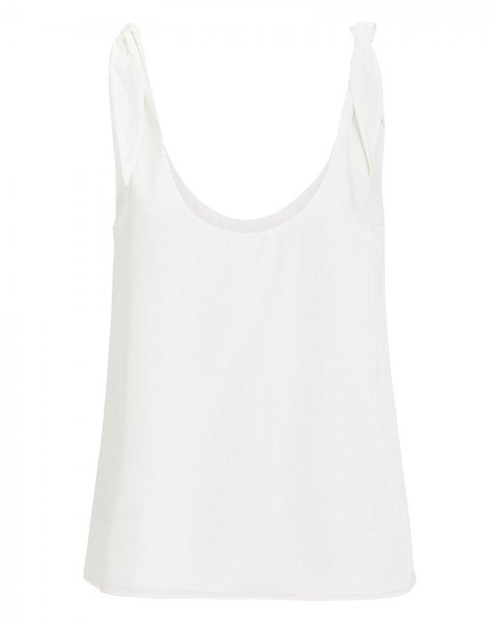 Lorena Silk Tie Sleeve Tank