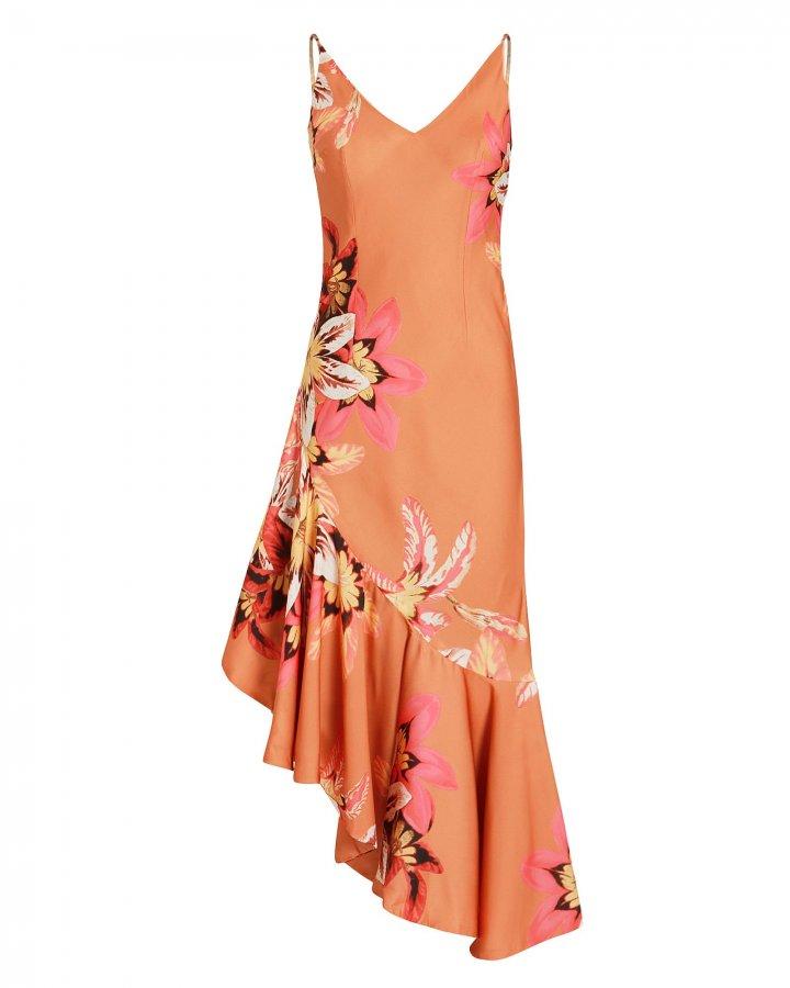 Carmen Asymmetric Slip Dress