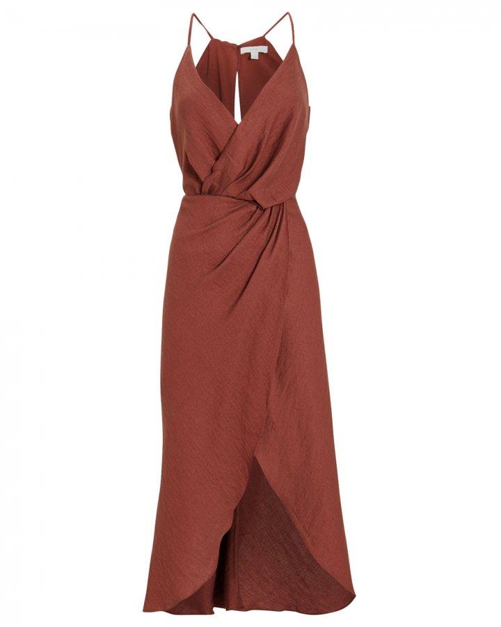 Tanika Sleeveless Wrap Dress