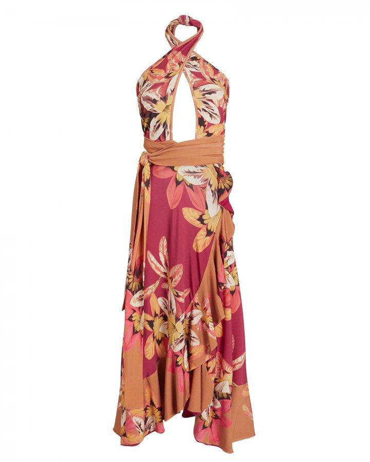 Carmen Floral Jersey Midi Dress