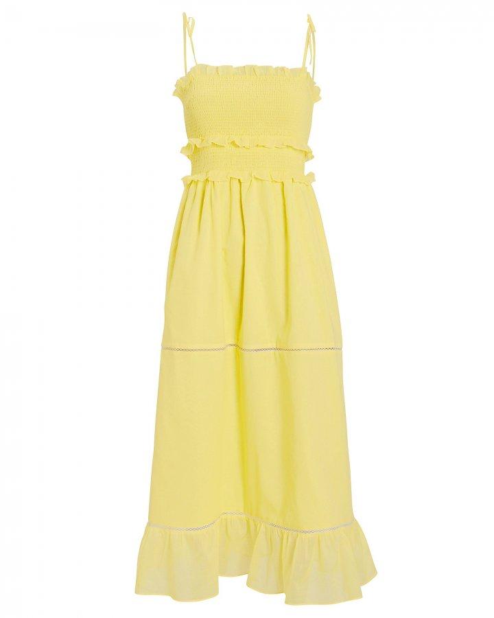 Luna Smocked Sleeveless Dress