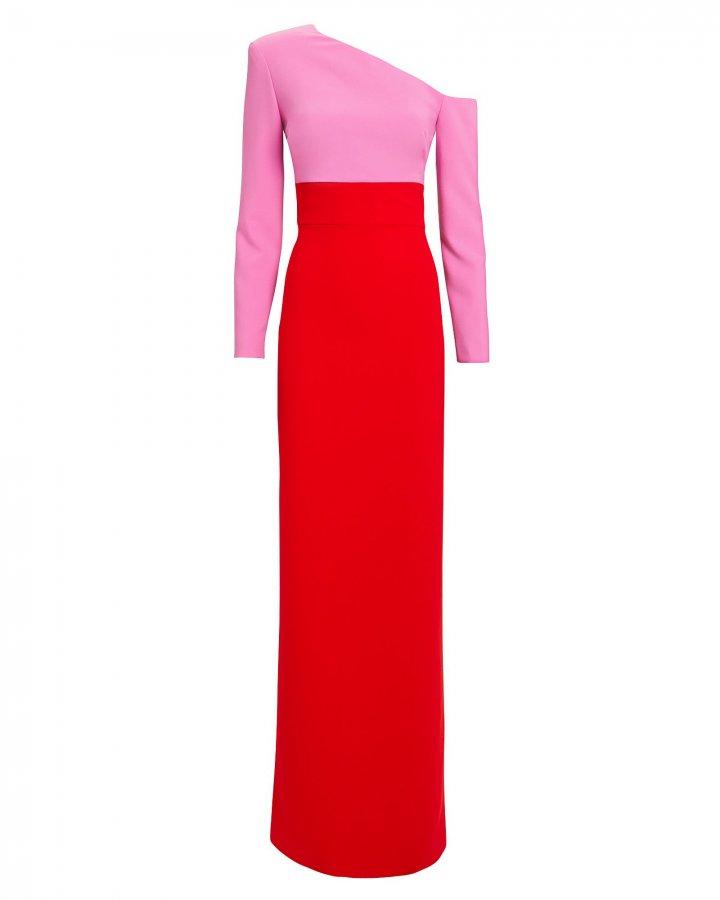Off Shoulder Colorblocked Gown